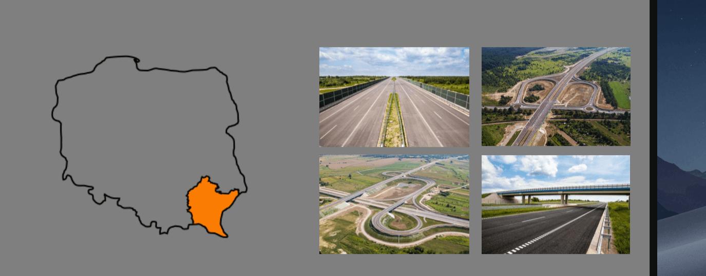 Drogi krajowe na Podkarpaciu.GDDKiA