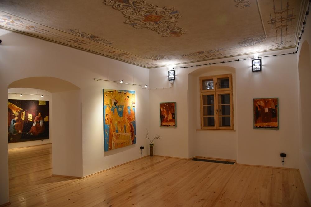 Wystawa malarstwa prof. Stanisława Białogłowicza w Wiśniowej