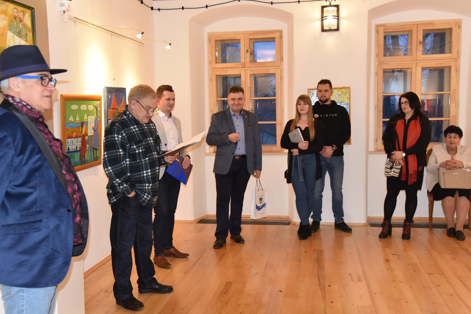 Otwarcie wystawy malarstwa Leszka Kuchniaka