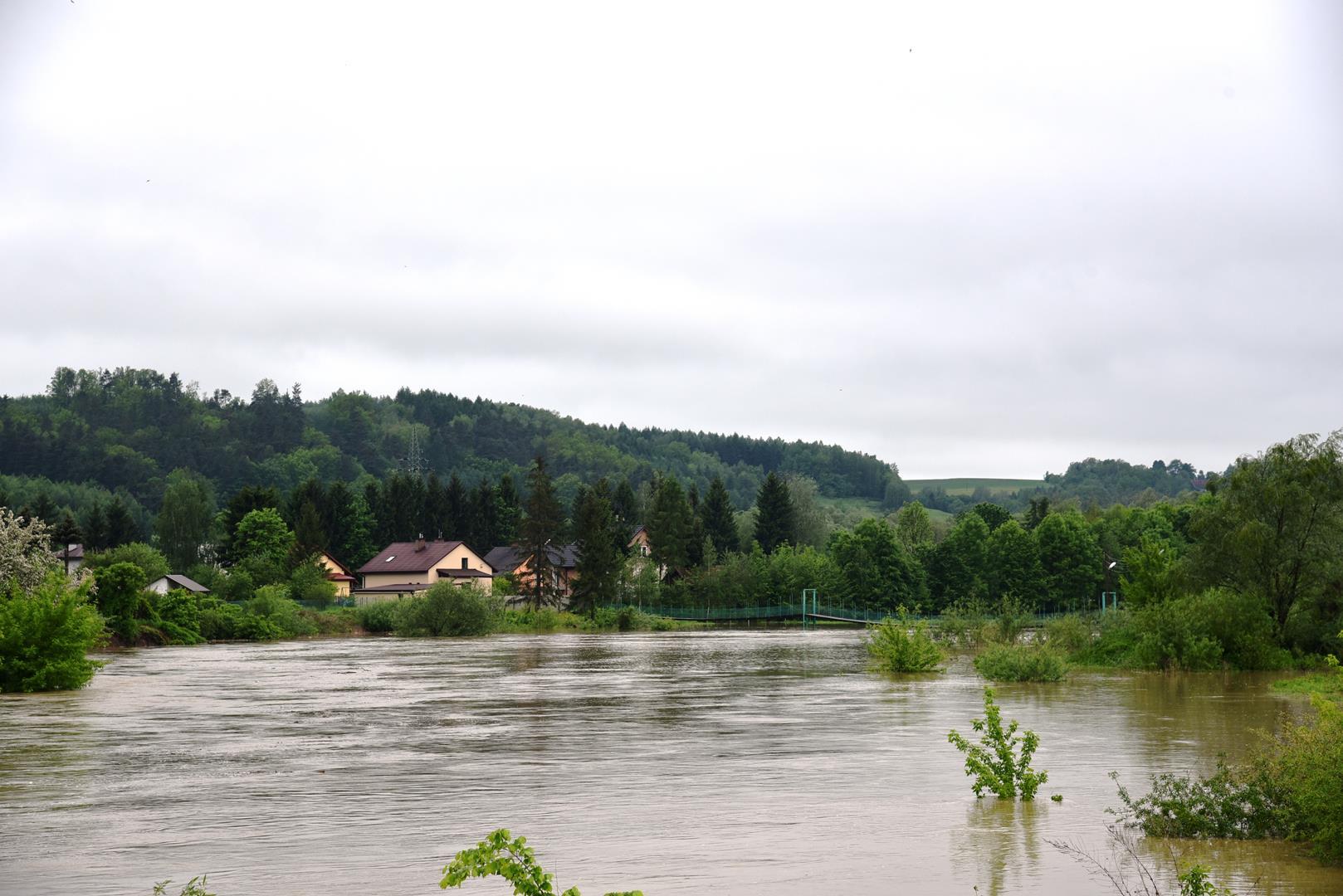 Alarm powodziowy w powiecie strzyżowskim